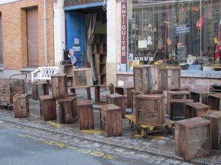 Antiquites belbezier caisses en bois hollandaises bulbes - Vieilles caisses en bois ...
